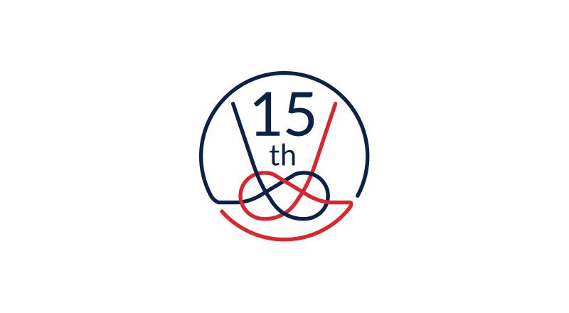 イベント会社のニューズベース|今回の周年イベントに込められた「感謝の気持ち」を表した15周年の記念ロゴ