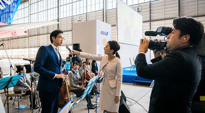 イベント会社のニューズベース|社内の取り組みを伝える報道番組のような動画《ANA TV》